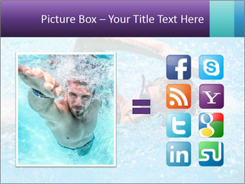 Man swimming PowerPoint Template - Slide 21