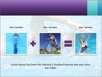 Man swimming PowerPoint Template - Slide 22