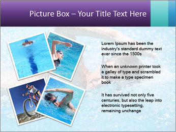 Man swimming PowerPoint Template - Slide 23
