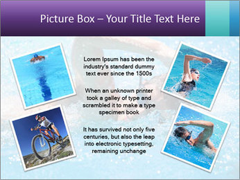 Man swimming PowerPoint Template - Slide 24