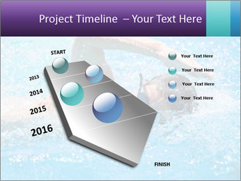 Man swimming PowerPoint Template - Slide 26