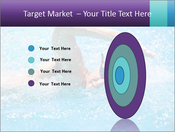 Man swimming PowerPoint Template - Slide 84