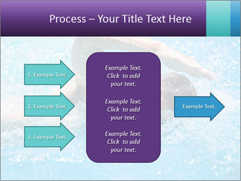 Man swimming PowerPoint Template - Slide 85