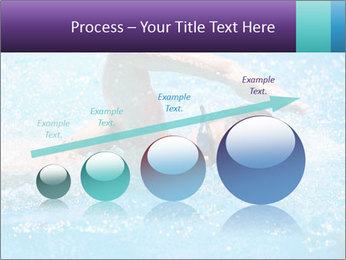 Man swimming PowerPoint Template - Slide 87