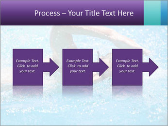 Man swimming PowerPoint Template - Slide 88