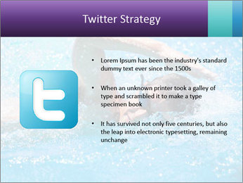 Man swimming PowerPoint Template - Slide 9