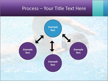 Man swimming PowerPoint Template - Slide 91