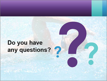 Man swimming PowerPoint Template - Slide 96