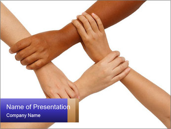 Hand coordination PowerPoint Template - Slide 1