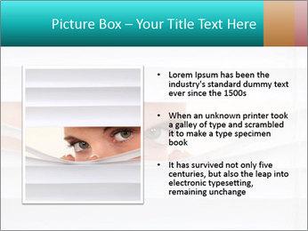 Woman peering PowerPoint Templates - Slide 13