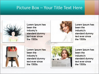 Woman peering PowerPoint Templates - Slide 14