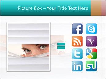 Woman peering PowerPoint Templates - Slide 21