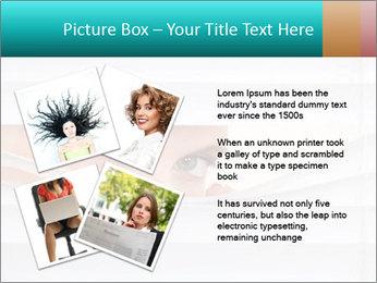 Woman peering PowerPoint Templates - Slide 23