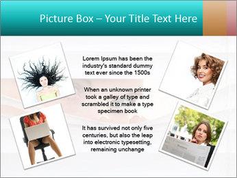 Woman peering PowerPoint Templates - Slide 24
