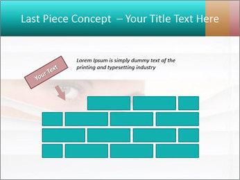 Woman peering PowerPoint Templates - Slide 46