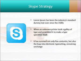 Woman peering PowerPoint Templates - Slide 8