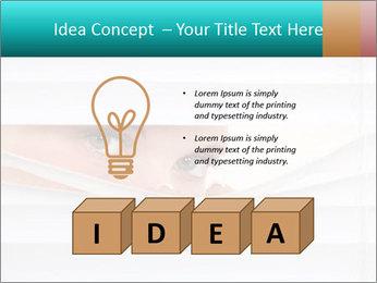 Woman peering PowerPoint Templates - Slide 80