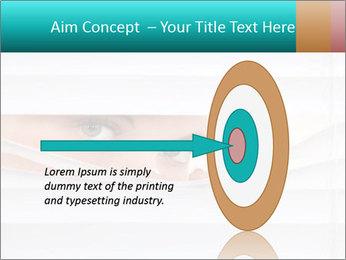 Woman peering PowerPoint Templates - Slide 83