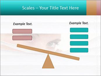 Woman peering PowerPoint Templates - Slide 89