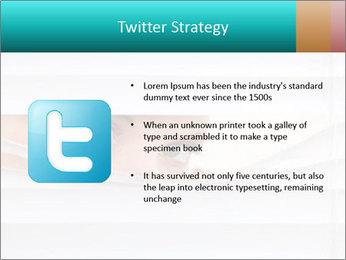 Woman peering PowerPoint Templates - Slide 9