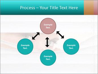 Woman peering PowerPoint Templates - Slide 91