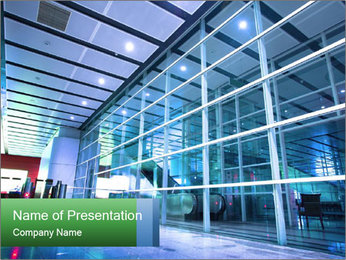 Interior of modern PowerPoint Template
