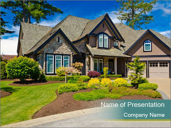 Luxury house in Vancouver PowerPoint Template - Slide 1