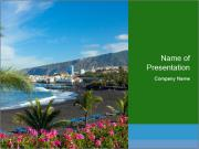Playa Jardin PowerPoint Templates