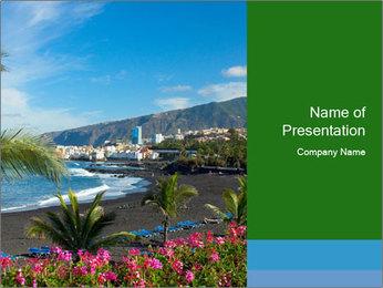 Playa Jardin PowerPoint Template - Slide 1