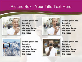Men photographing with smartphone PowerPoint Template - Slide 14
