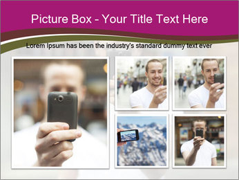 Men photographing with smartphone PowerPoint Template - Slide 19