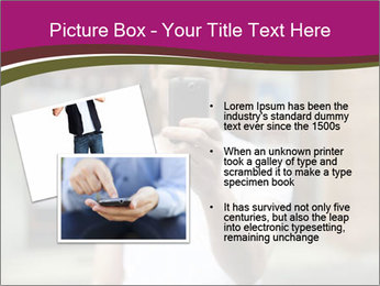 Men photographing with smartphone PowerPoint Template - Slide 20