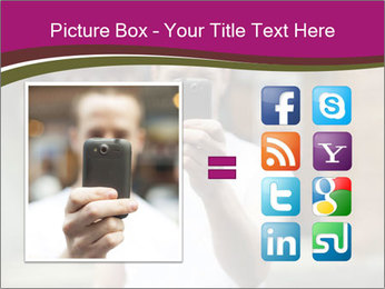 Men photographing with smartphone PowerPoint Template - Slide 21