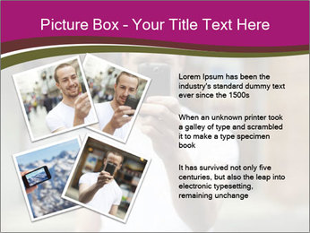 Men photographing with smartphone PowerPoint Template - Slide 23