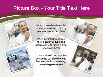 Men photographing with smartphone PowerPoint Template - Slide 24