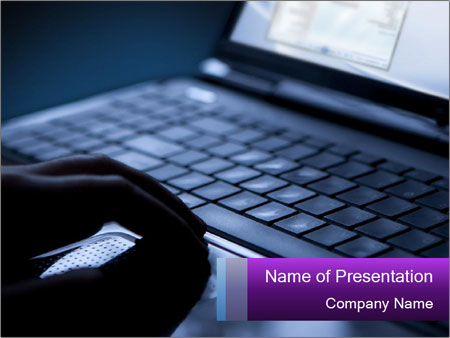 Using a laptop PowerPoint Template