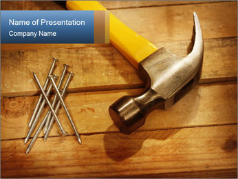 Hammer nails PowerPoint Template - Slide 1
