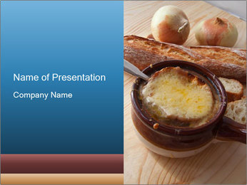 French onion soup PowerPoint Template - Slide 1