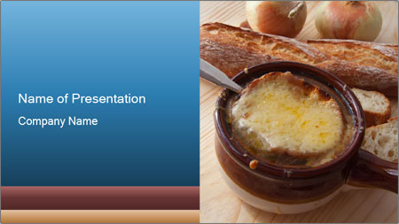 French onion soup PowerPoint Template