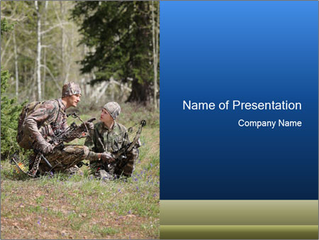 Father and son PowerPoint Templates