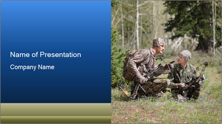 Father and son PowerPoint Template