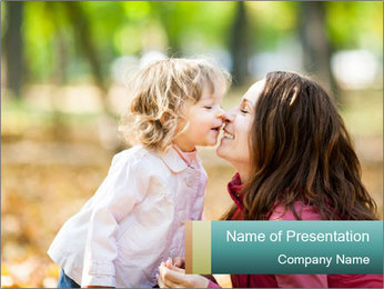 Happy smiling family PowerPoint Template - Slide 1
