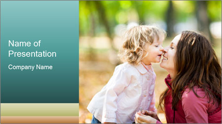 Happy smiling family PowerPoint Template
