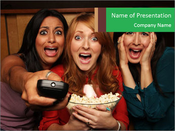 Scary Movie PowerPoint Template - Slide 1