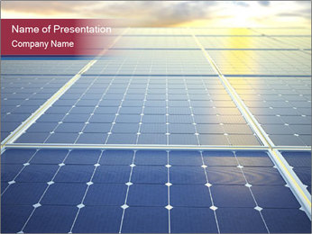 Solar energy PowerPoint Template - Slide 1