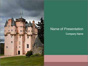 Baronial Craigievar Castle PowerPoint Template - Slide 1