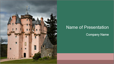 Baronial Craigievar Castle PowerPoint Template