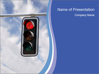 Red traffic lights PowerPoint Template - Slide 1