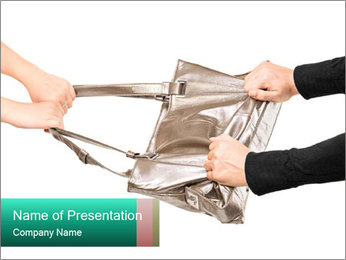 A thief trying to steal a handbag PowerPoint Template