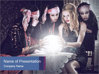 Fortune teller PowerPoint Template - Slide 1